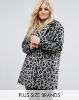 Alice & You Smart Coat In Monochrome Leopard Print