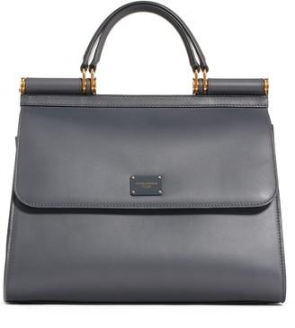 Dolce & Gabbana Sicily 58 Leather Satchel with Shoulder Strap