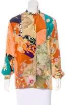 Gucci Silk Tiger Print Top