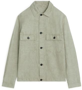 Arket Linen Blend Utility Overshirt