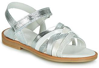 Citrouille et Compagnie JIRAFOU girls's Sandals in Silver