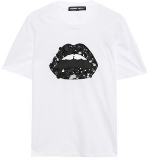 Markus Lupfer Alex Embellished Cotton-jersey T-shirt