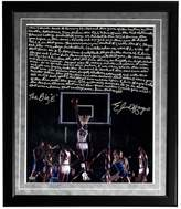 """Steiner Sports Houston Cougars Elvin Hayes Being Big E Facsimile 16"""" x 20"""" Framed Metallic Story Photo"""