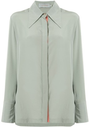 Silvia Tcherassi Long-Sleeve Silk Shirt