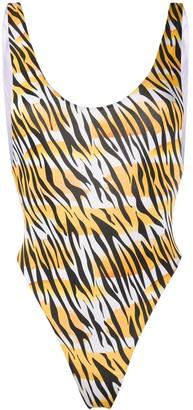 Reina Olga Funky tiger print swimsuit