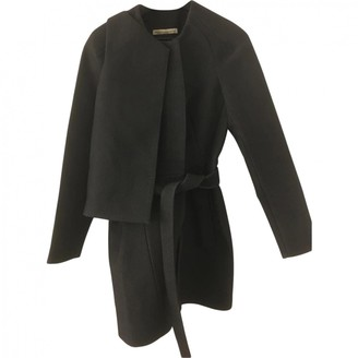 Balenciaga Anthracite Wool Coat for Women
