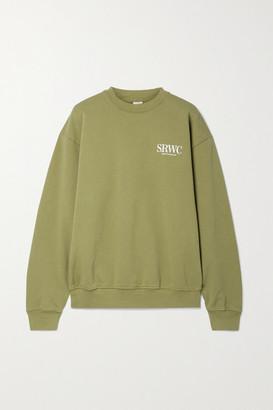 Sporty & Rich Upper East Side Printed Cotton-jersey Sweatshirt - Dark green