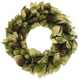 Floral Treasure Pinecones and Leaves Wreath