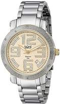 Burgi Women's BUR091TTG Silver Quartz Watch with Yellow Dial and Silver Bracelet