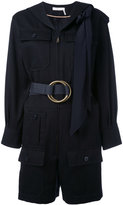 Chloé belted pocket playsuit