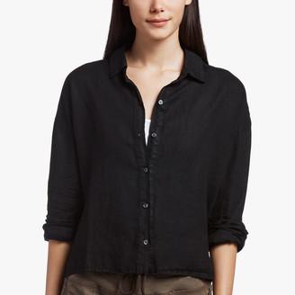James Perse Canvas Linen Boxy Shirt
