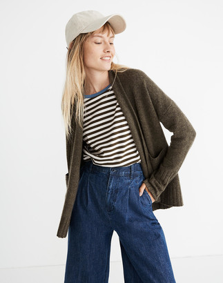 Madewell Cashmere Shawl-Collar Cardigan Sweater