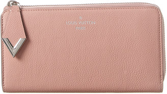 Louis Vuitton Pink Leather Comete Zippy Wallet