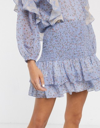 We Are Kindred amalfi ditsy floral print mini skirt