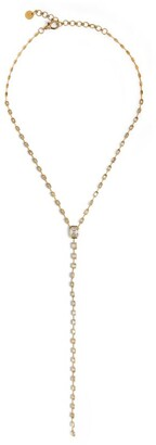 Shay Yellow Gold and Diamond Sticks & Stones Illusion Drop Necklace