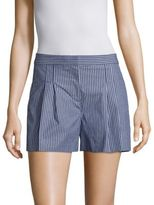 MICHAEL Michael Kors Pane Striped Pleated Shorts
