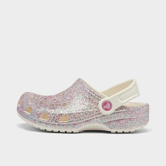 Crocs Girls' Little Kids' Classic Glitter Clog Shoes