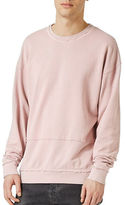 Topman Raw Edge Seam Sweatshirt