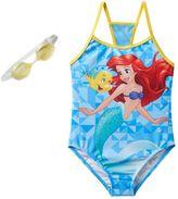 Disney Disney's The Little Mermaid Ariel & Flounder Girls 4-6x One-Piece Swimsuit