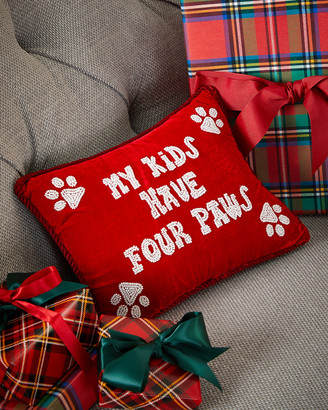 Sudha Pennathur My Kids Have Four Paws Pillow