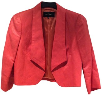 Jaeger Orange Linen Jacket for Women