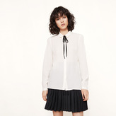Maje Flowing blouse with decorative collar