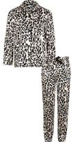 River Island Girls pink leopard print pajama set