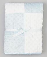 SpaSilk 30'' x 30'' Blue & White Minky Dot Blanket