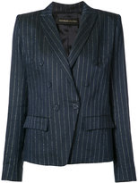 Alexandre Vauthier pinstripe blazer - women - Viscose/Linen/Flax/Lurex - 38