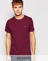 Jack Wills T-Shirt With Pheasant Logo In Burgundy Exclusive