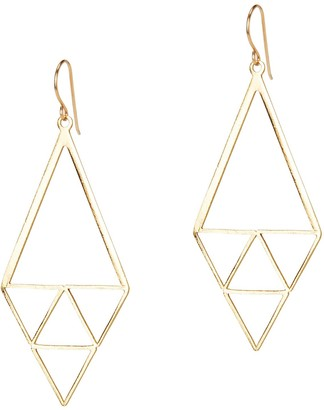 Amorcito Gold Inner Triangle Earrings