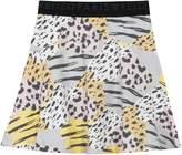 Kenzo Girls Animal Print Skater Skirt