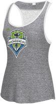 adidas Women's Seattle Sounders Pearl Logo Lace Back Tank Top