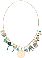 Gemfields x Muse Full Emerald Charm Necklace with Gold Chain