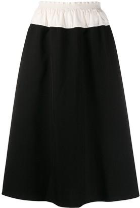 Sara Lanzi Two-Tone Flared Skirt