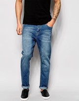 Cheap Monday Jeans Dropped Tapered Fit Rise Above Mid Blue