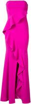 Jay Godfrey ruffled strapless gown - women - Polyester/Polyurethane - 0