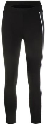 NO KA 'OI Side-Stripe Cropped Leggings