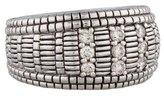 Judith Ripka Three-Row Diamond Band