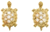 Sydney Evan Diamond Turtle Stud Earrings