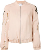 Blugirl sequin embroidery sleeve bomber jacket - women - Polyester - 40