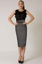 Black Halo High Waist Tweed Pencil Skirt *Online Exclusive*
