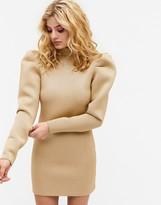 Thumbnail for your product : Monki Diamond scuba glitter mini dress in gold