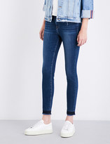 Frame Le High skinny high-rise frayed jeans