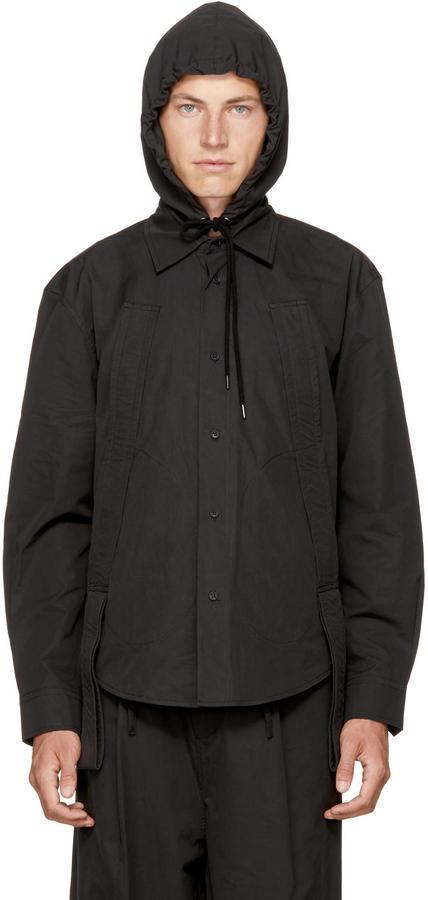 Craig Green Black Workwear Handle Hood Shirt
