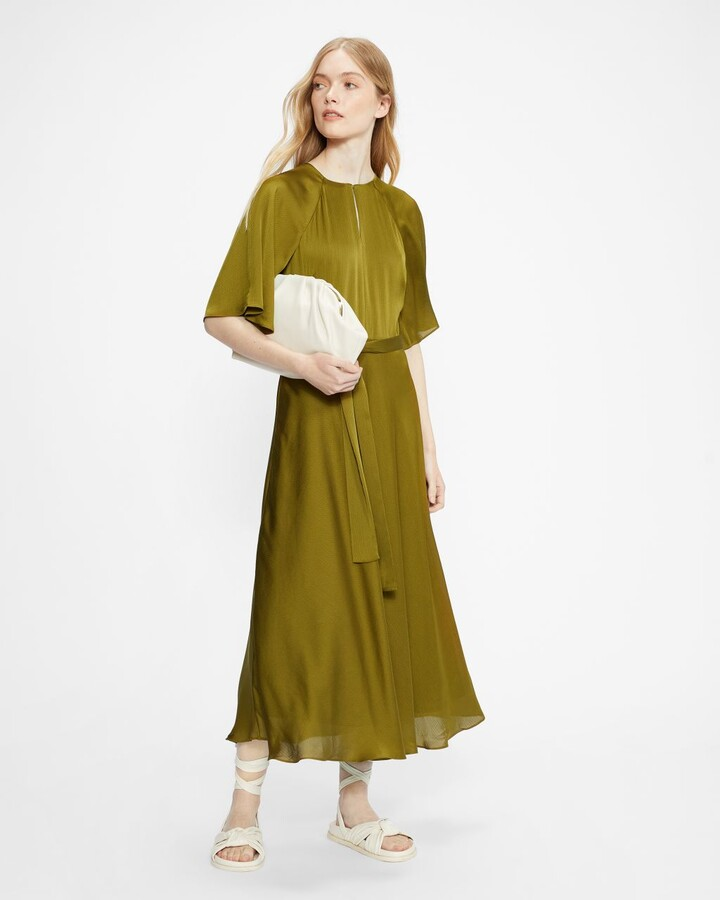 Ted Baker Raglan Sleeve Tea Midi Dress