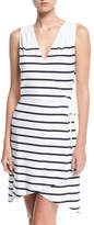 Heidi Klein Maine Sleeveless Striped Wrap Dress