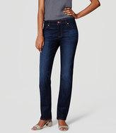 LOFT Petite Curvy Straight Leg Jeans in Dark Stonewash