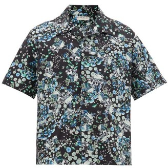 Givenchy Floral-print Cotton-poplin Shirt - Mens - Black Multi