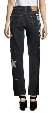 Rialto Jean Project Vintage 501 Splatter Star Boyfriend Jeans